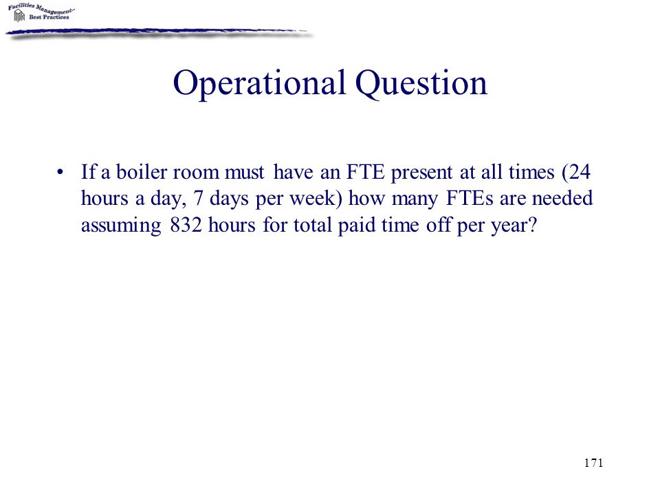 Operational Question