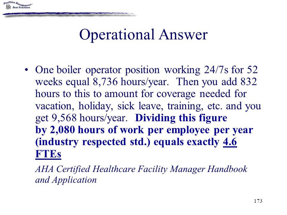 Operational Answer