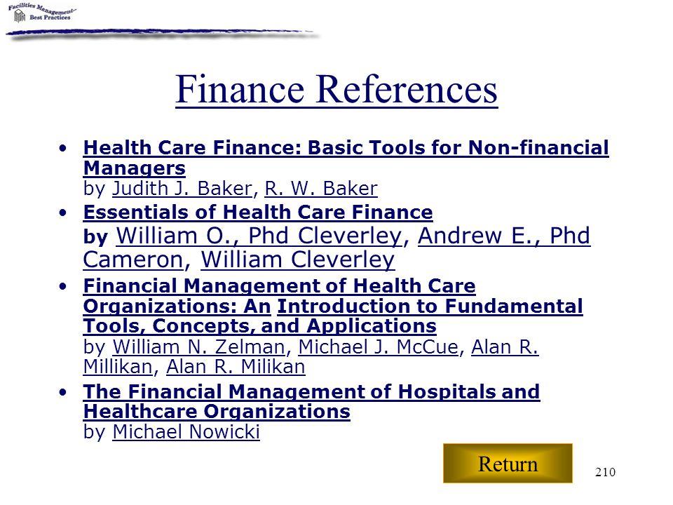 Finance References Return