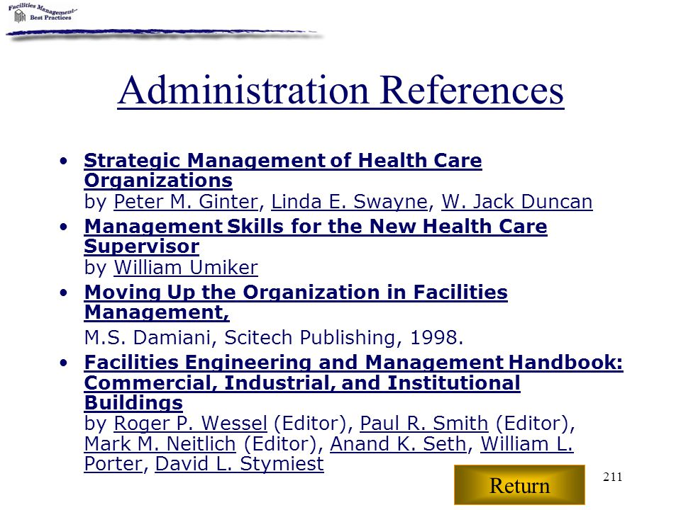 Administration References
