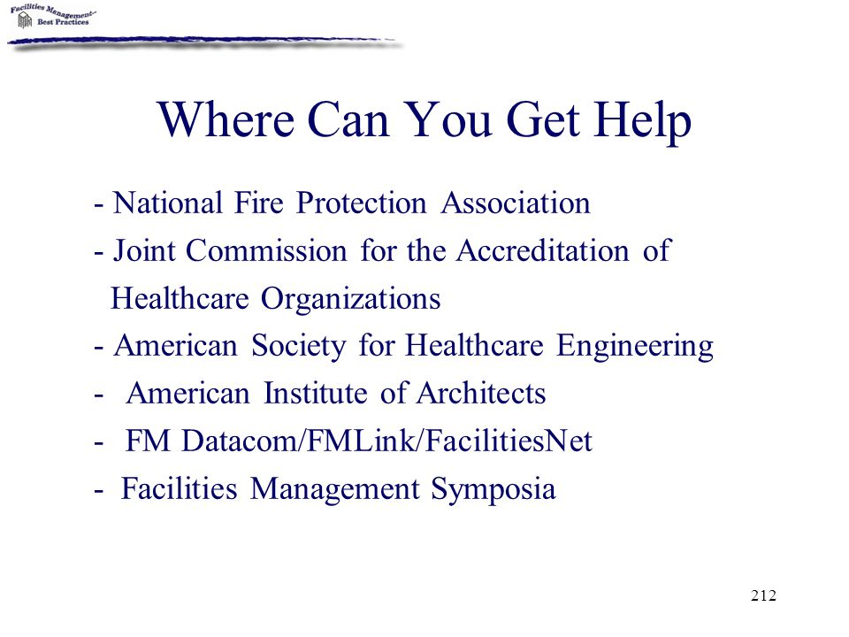 Where Can You Get Help - National Fire Protection Association