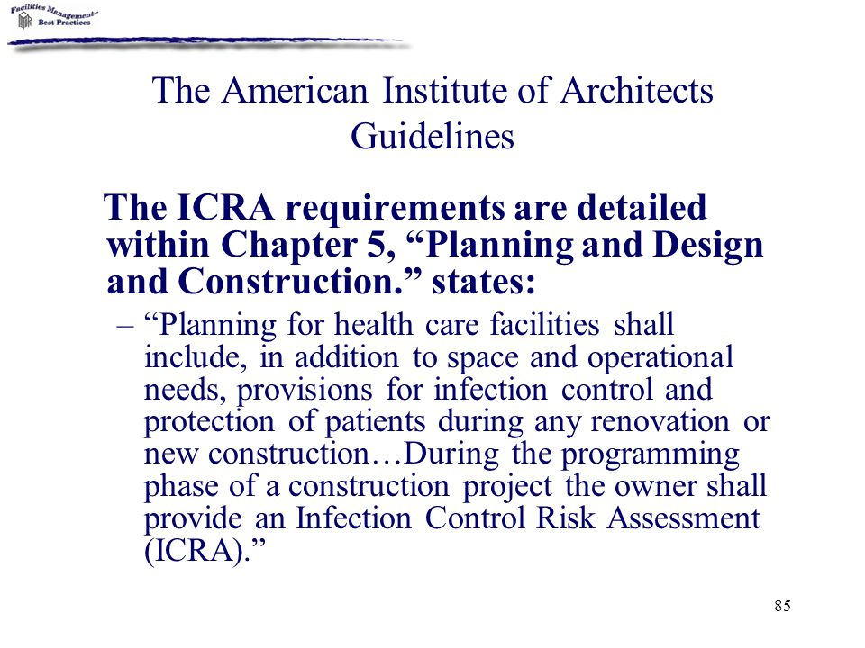 The American Institute of Architects Guidelines