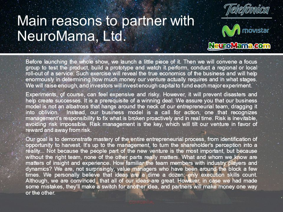 Main reasons to partner with NeuroMama, Ltd.