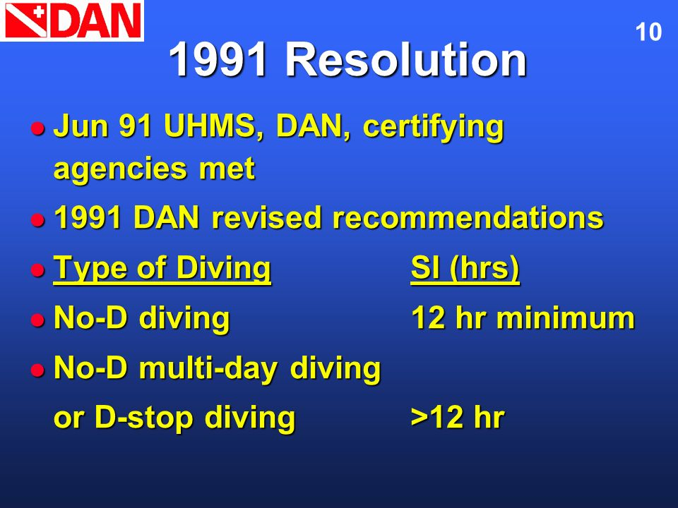 1991 Resolution Jun 91 UHMS, DAN, certifying agencies met