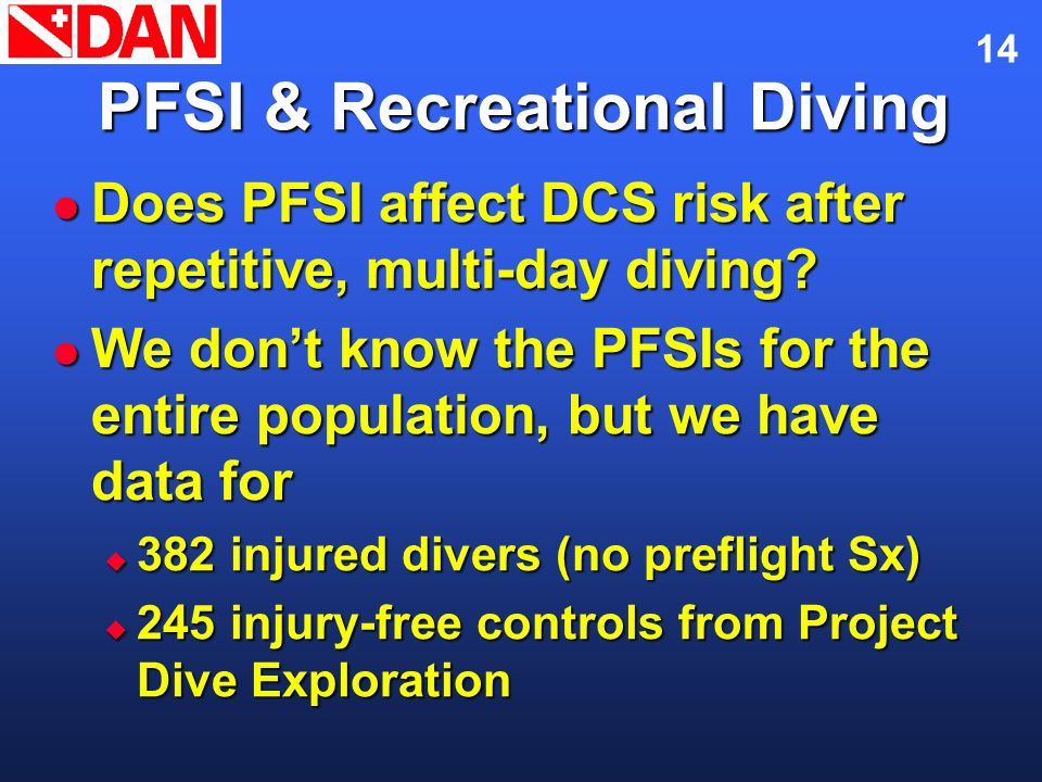 PFSI & Recreational Diving