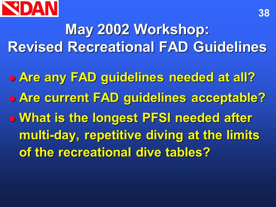 May 2002 Workshop: Revised Recreational FAD Guidelines