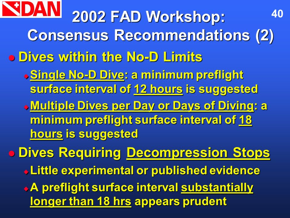 2002 FAD Workshop: Consensus Recommendations (2)