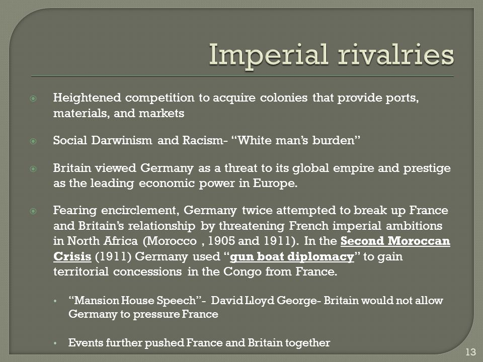 Imperial rivalries