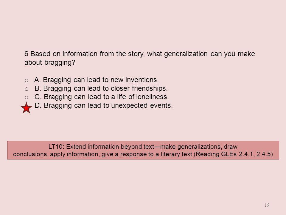 LT10: Extend information beyond text—make generalizations, draw