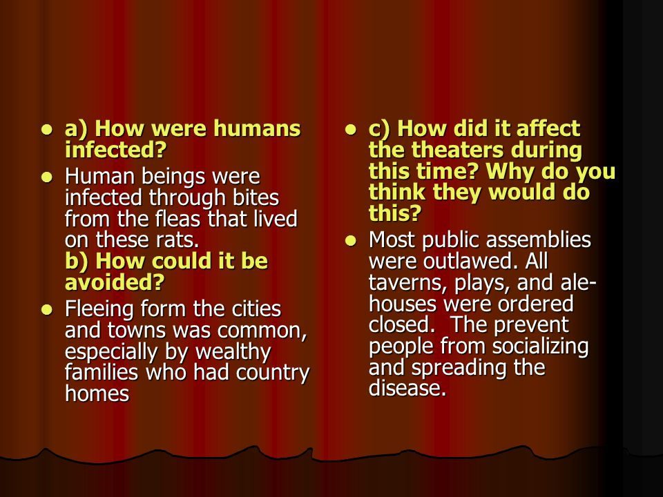 a) How were humans infected