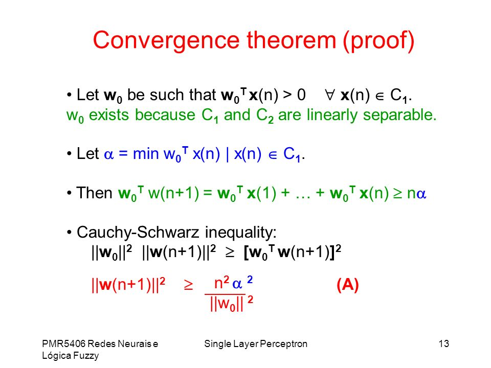 Convergence theorem (proof)