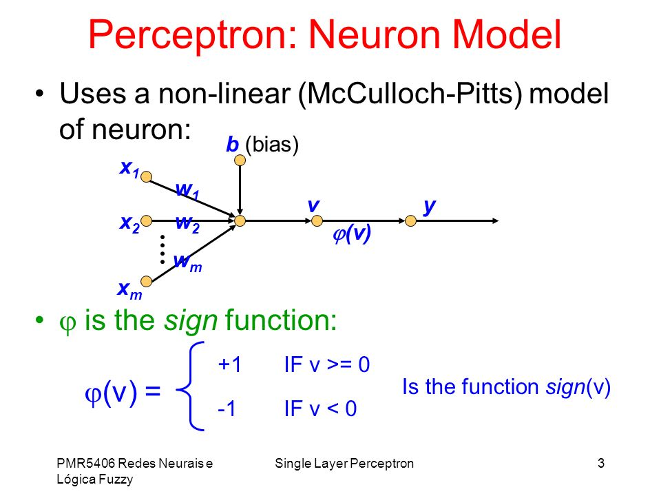 Perceptron: Neuron Model