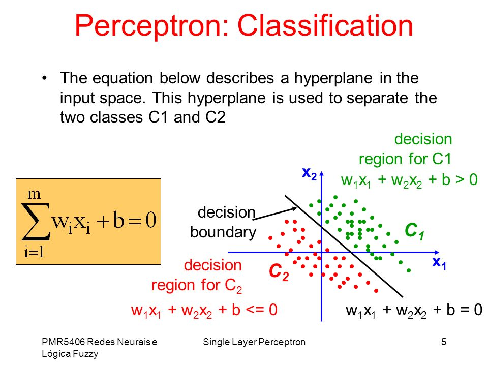 Perceptron: Classification