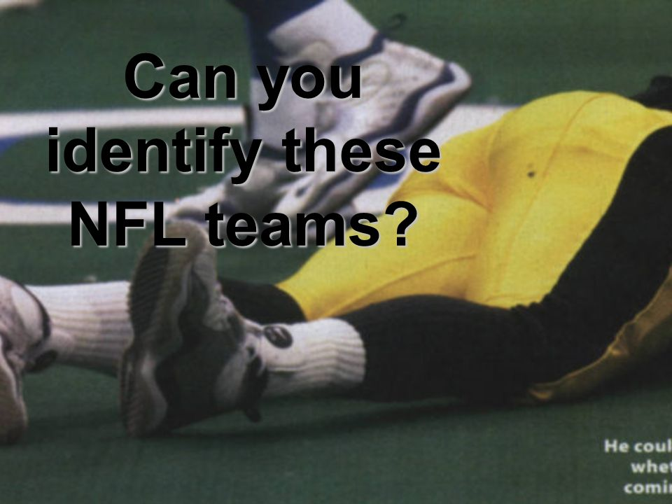 Can you identify these NFL teams