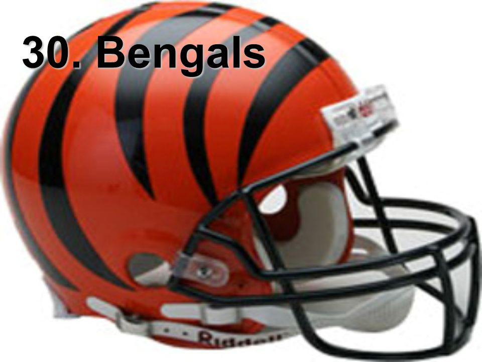 30. Bengals