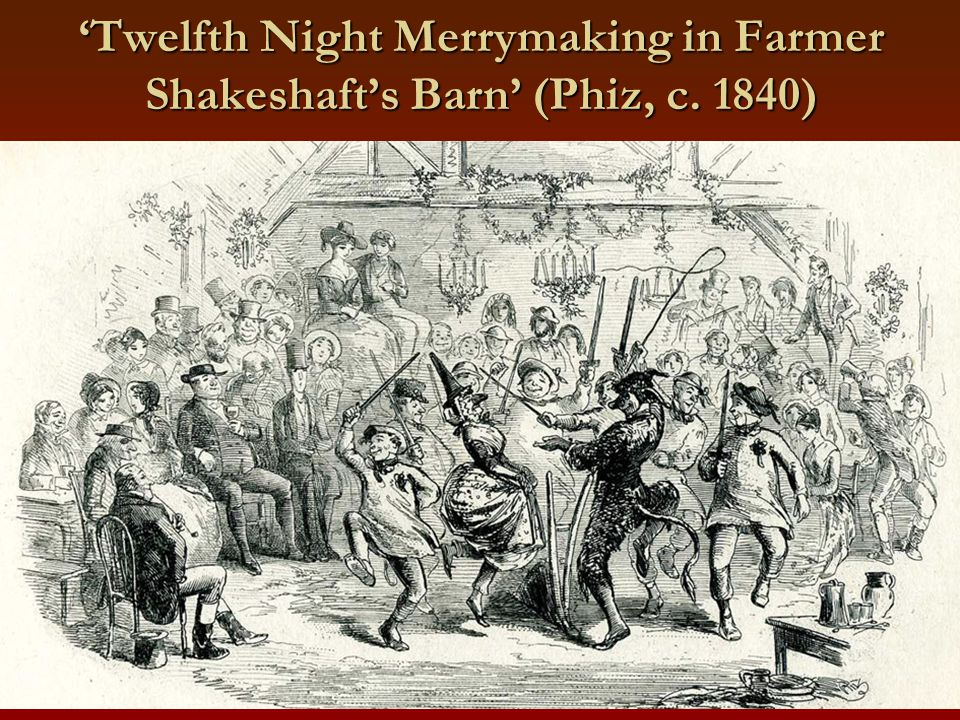 'Twelfth Night Merrymaking in Farmer Shakeshaft's Barn' (Phiz, c. 1840)