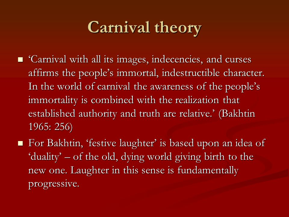 Carnival theory