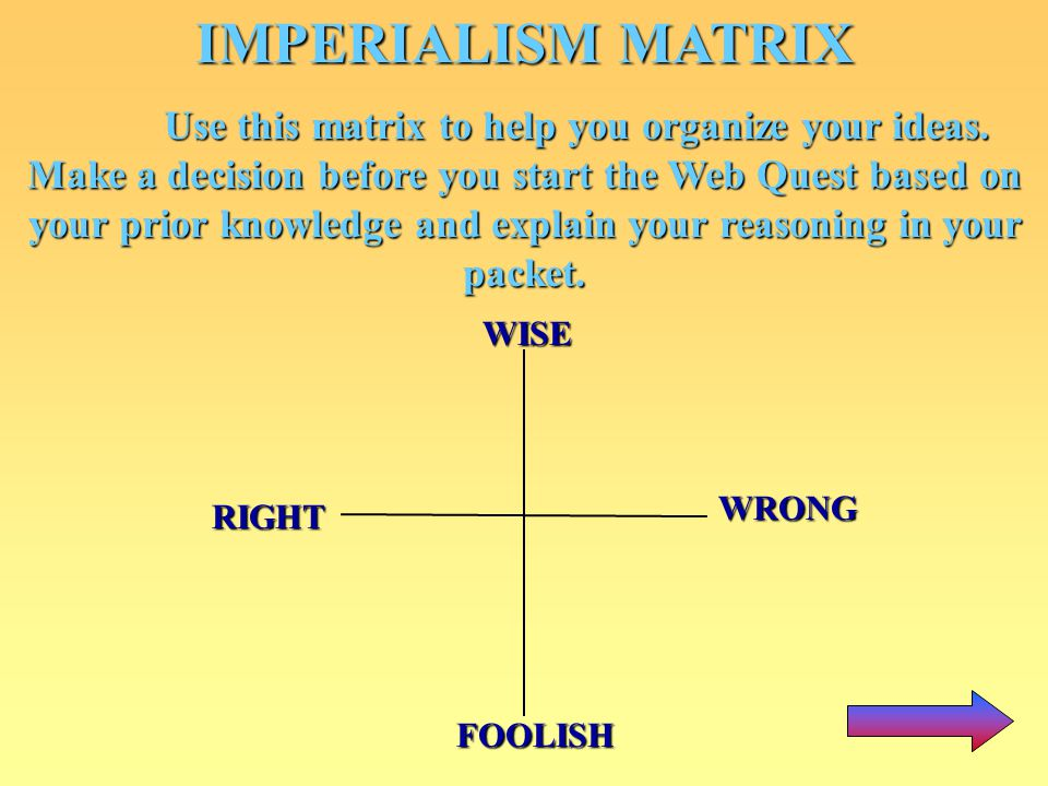 IMPERIALISM MATRIX