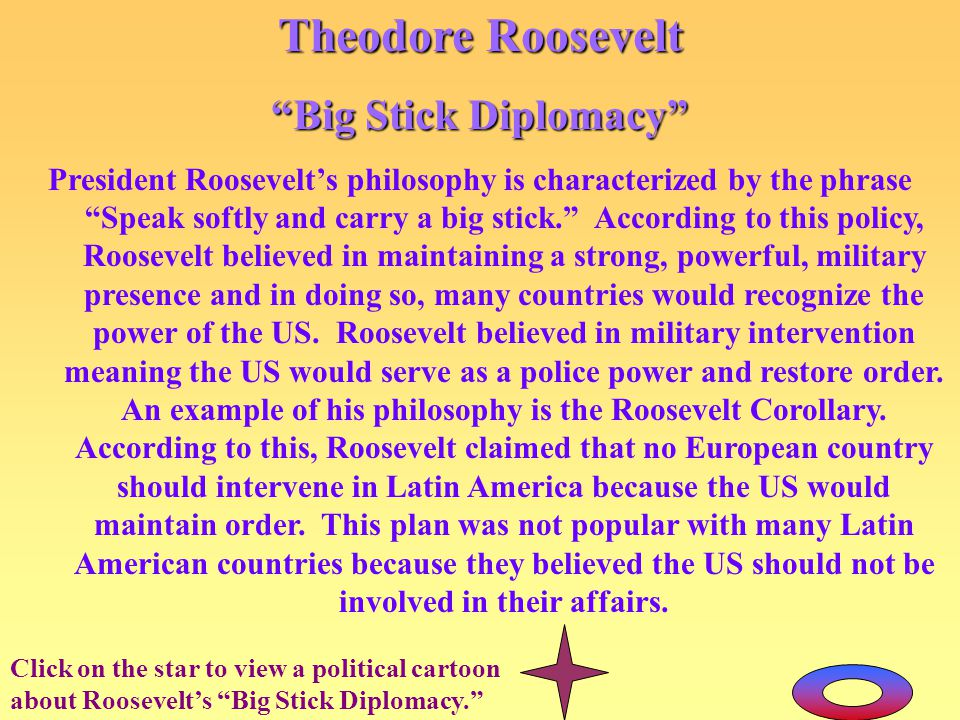 Theodore Roosevelt Big Stick Diplomacy