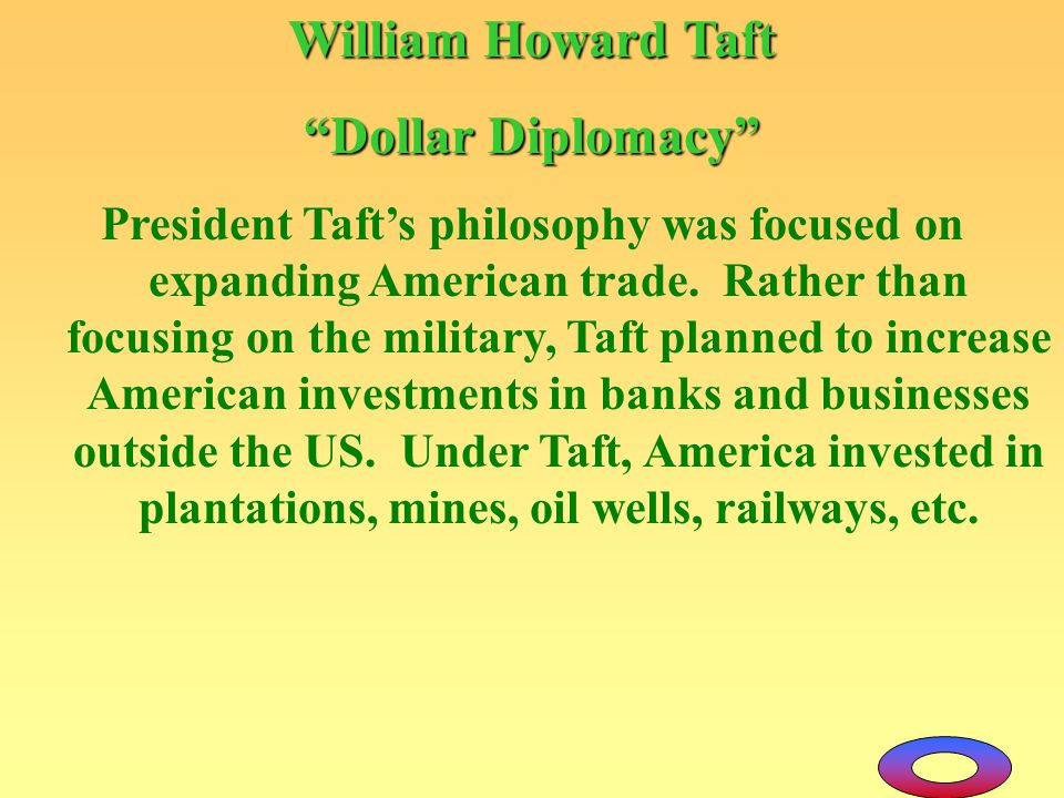 William Howard Taft Dollar Diplomacy