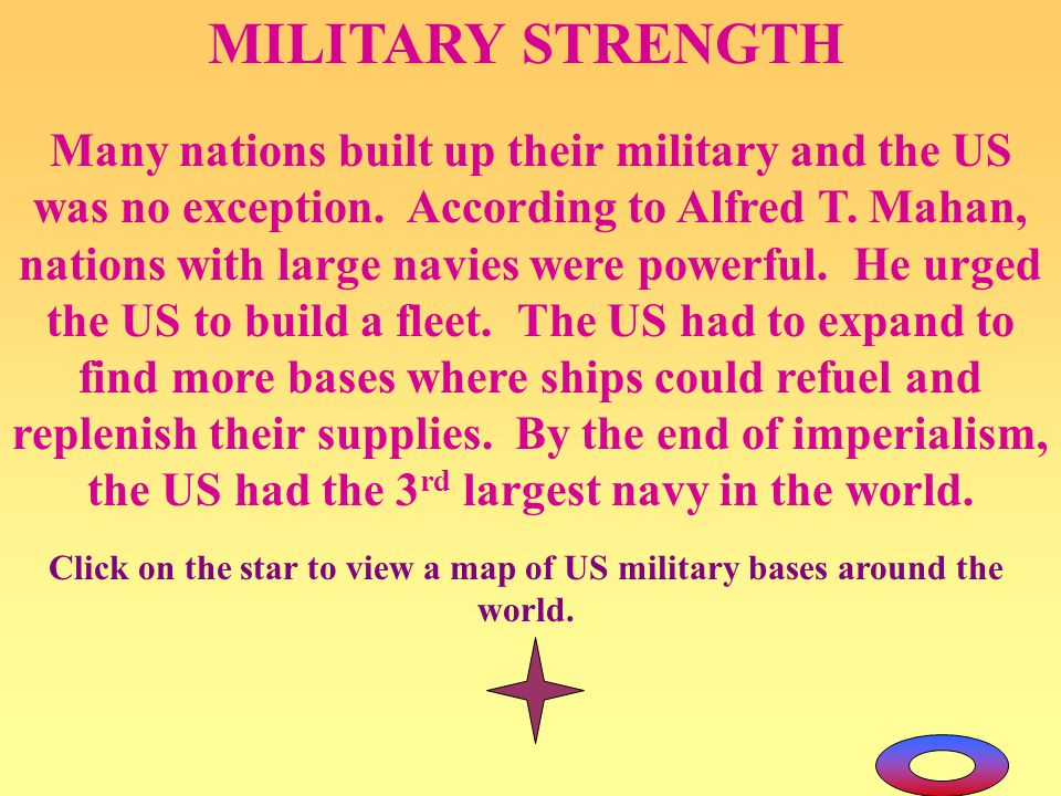 Click on the star to view a map of US military bases around the world.