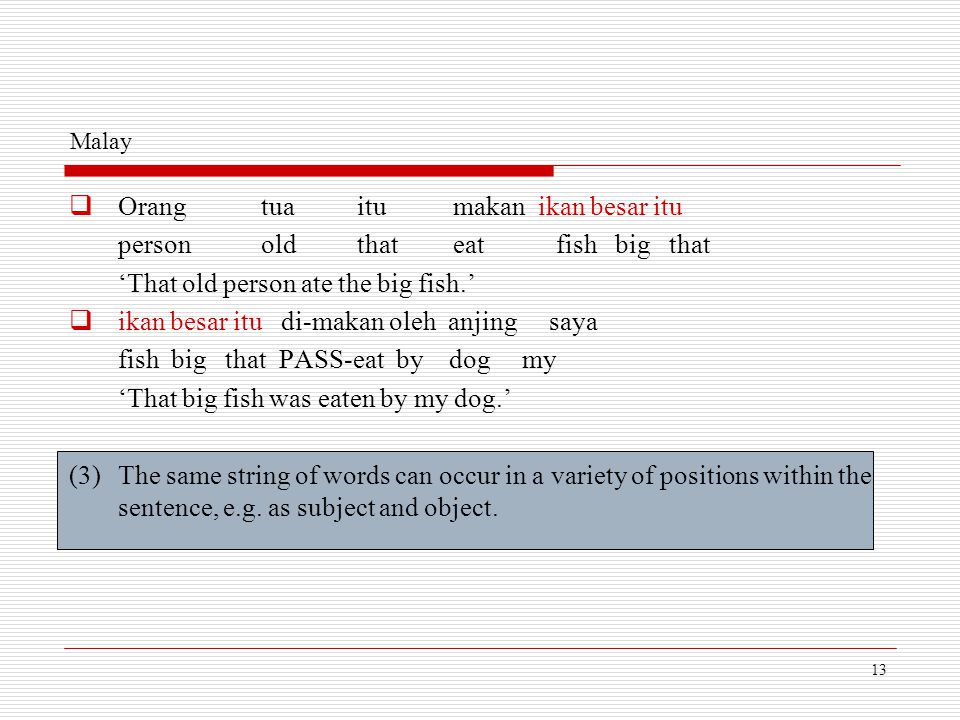 Orang tua itu makan ikan besar itu person old that eat fish big that