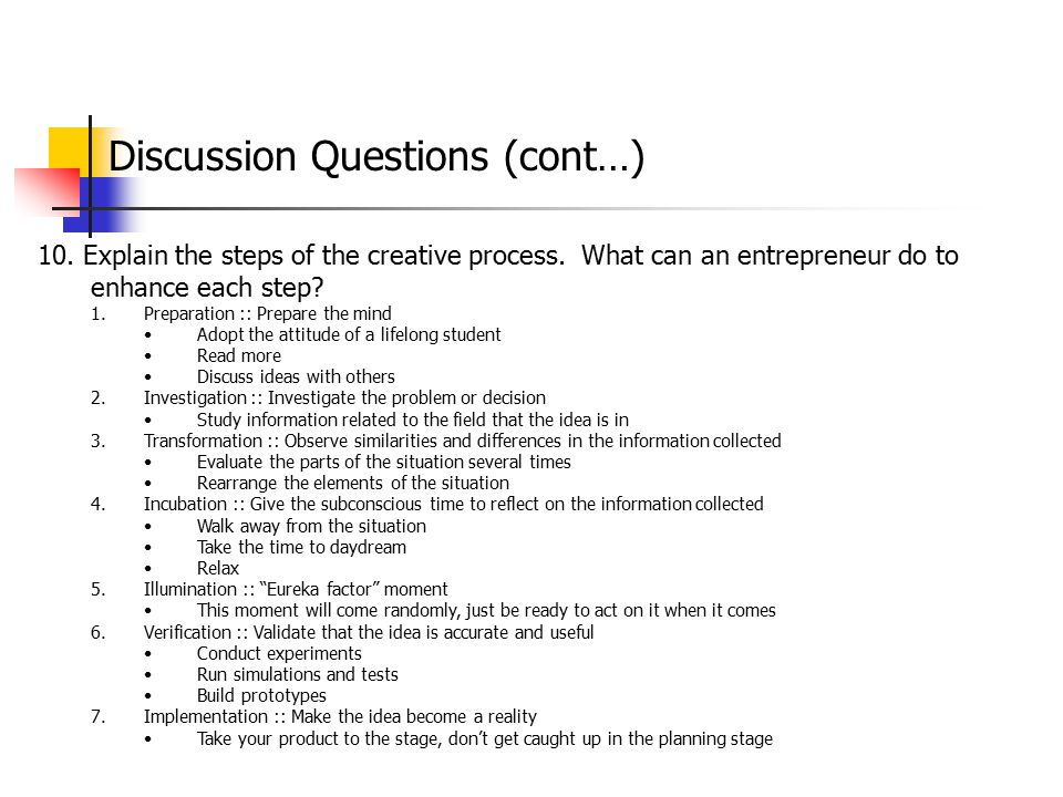 Discussion Questions (cont…)