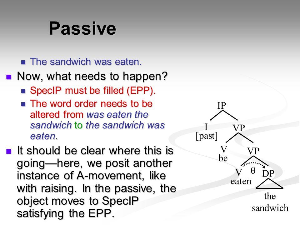 Passive Now, what needs to happen