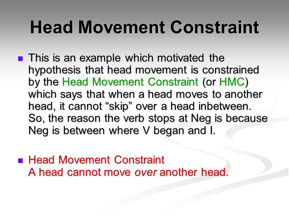 Head Movement Constraint