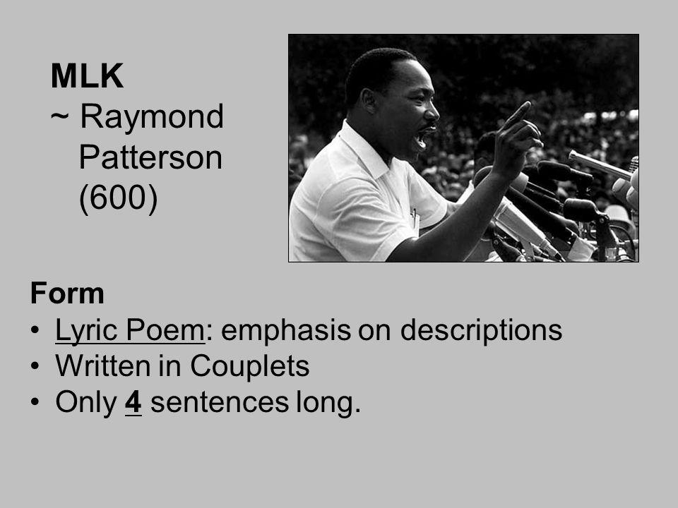 MLK ~ Raymond Patterson (600)