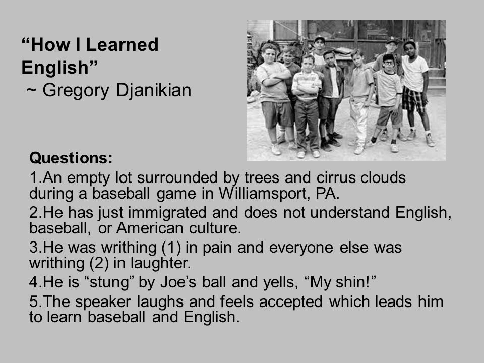 How I Learned English ~ Gregory Djanikian