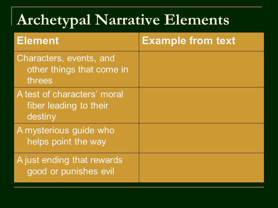 Archetypal Narrative Elements
