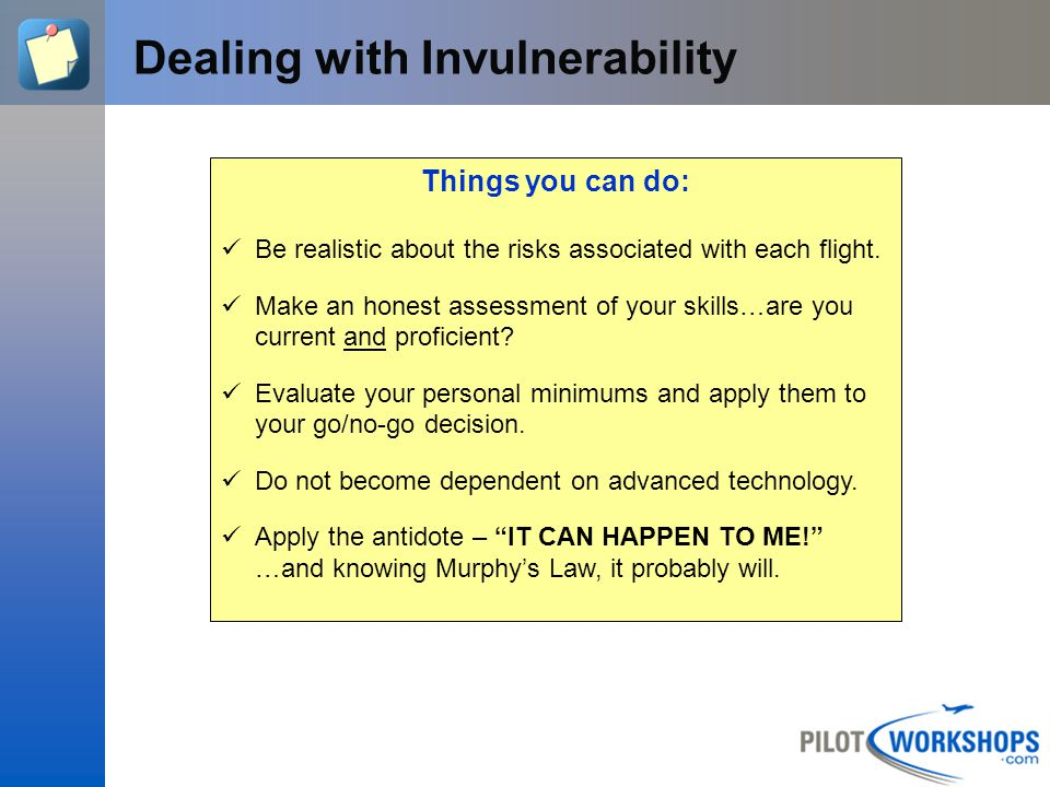 Dealing with Invulnerability