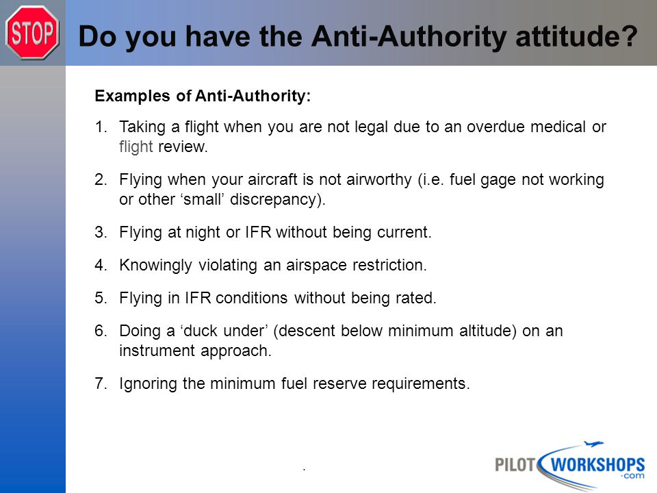 Do you have the Anti-Authority attitude