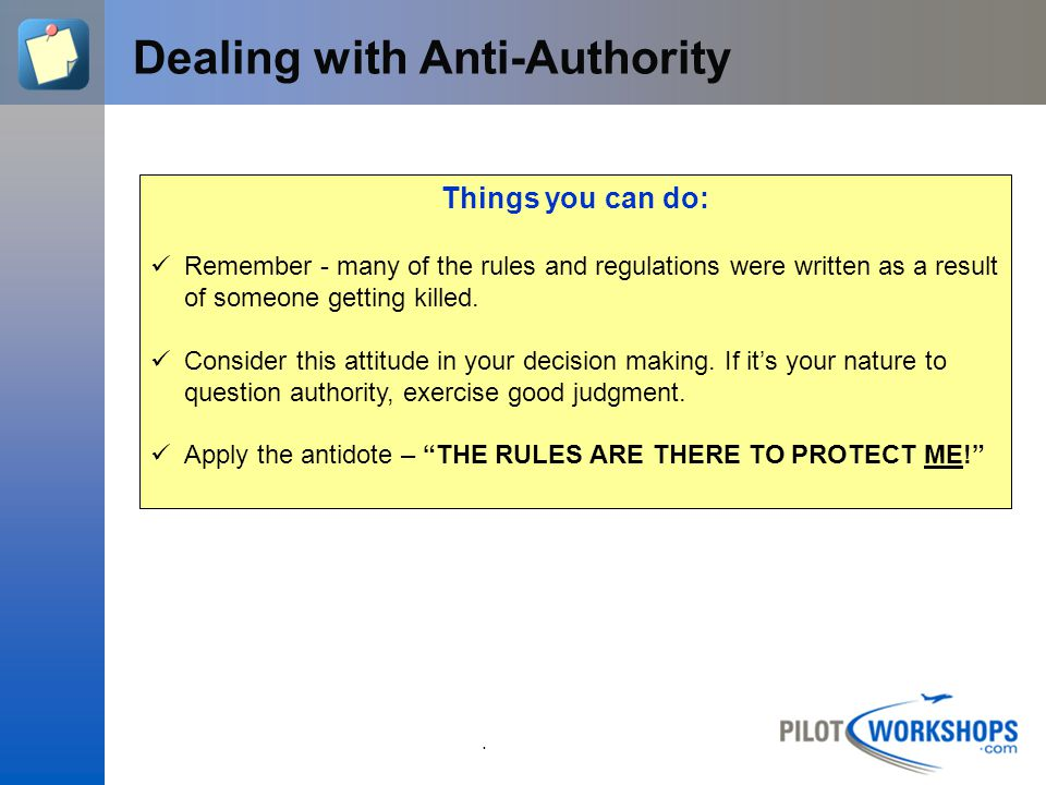 Dealing with Anti-Authority