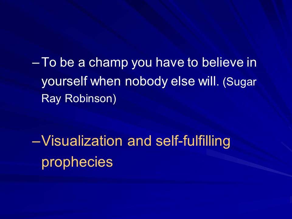 Visualization and self-fulfilling prophecies
