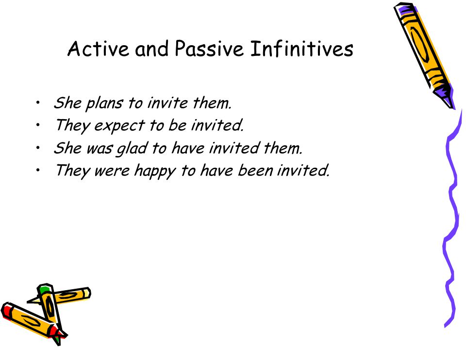 Active and Passive Infinitives