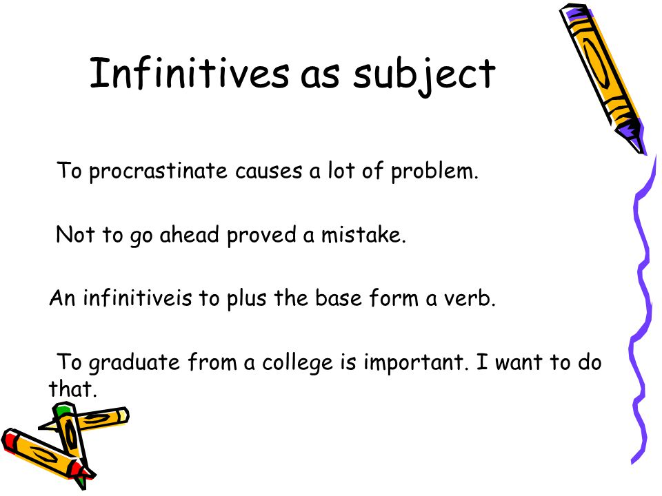 Infinitives as subject
