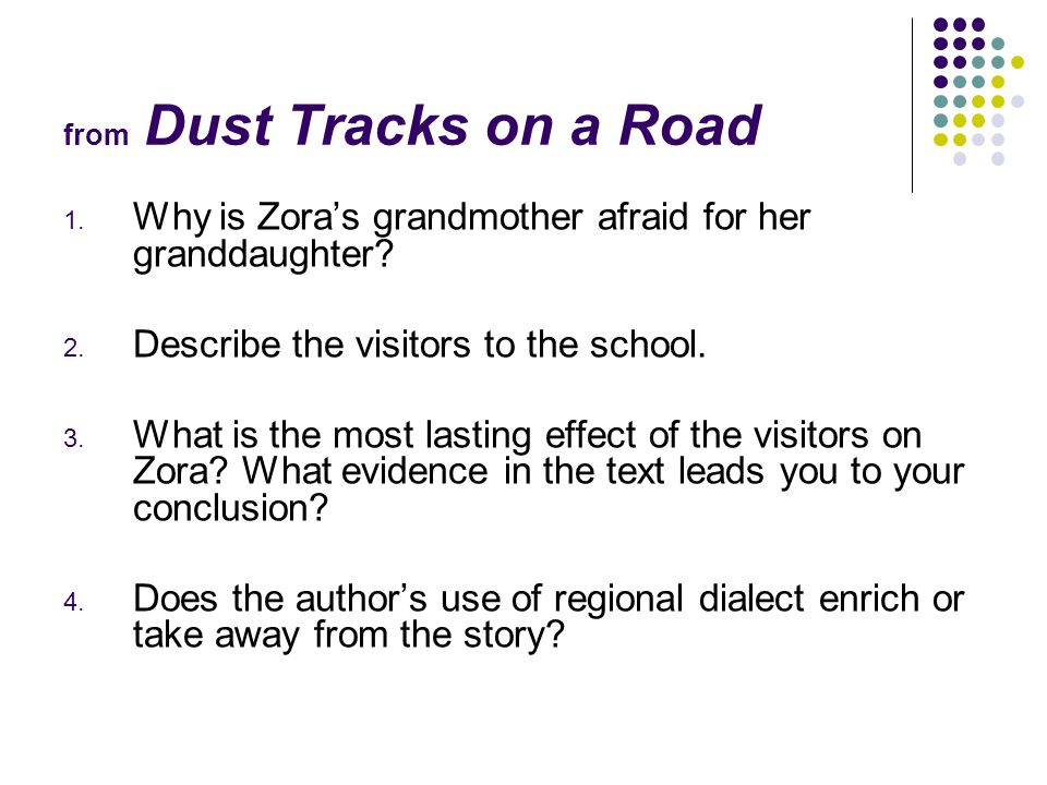 from Dust Tracks on a Road