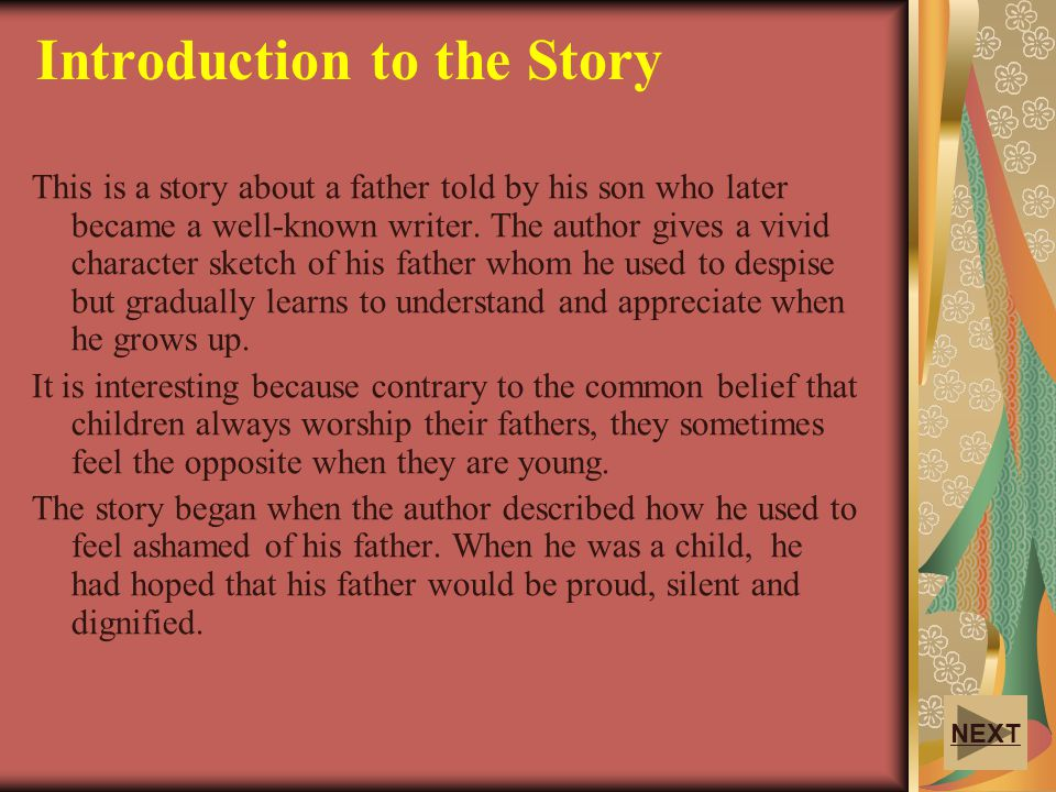Introduction to the Story