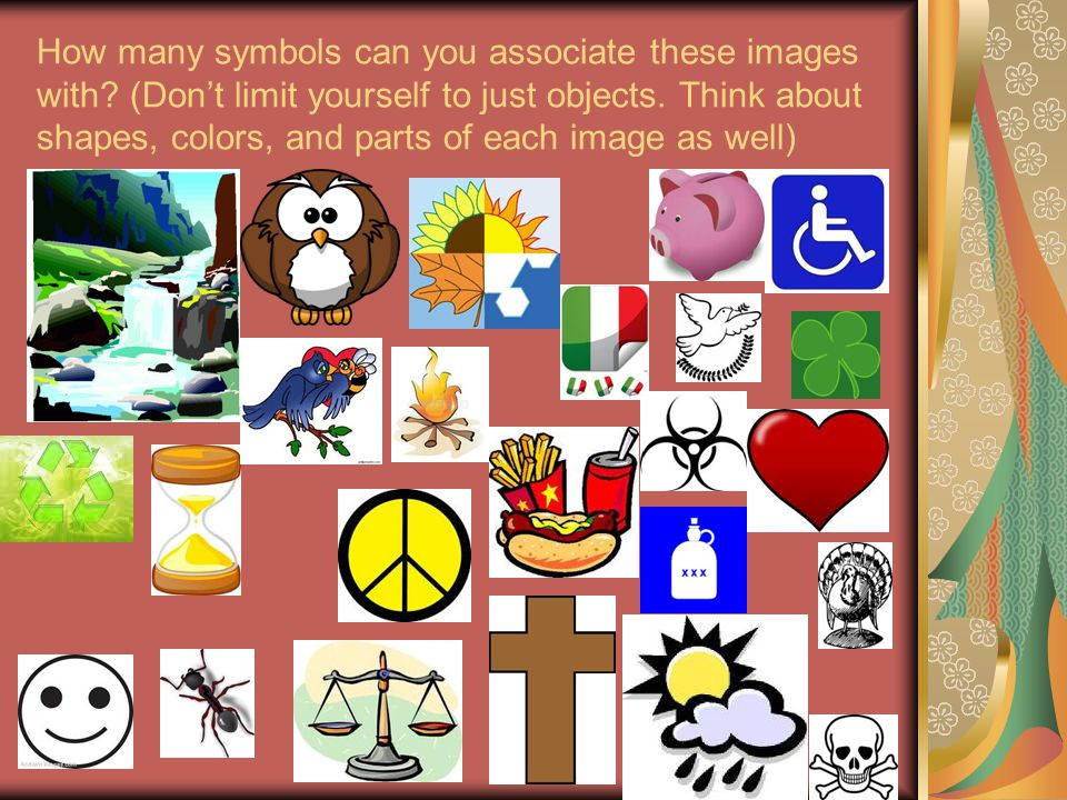 How many symbols can you associate these images with