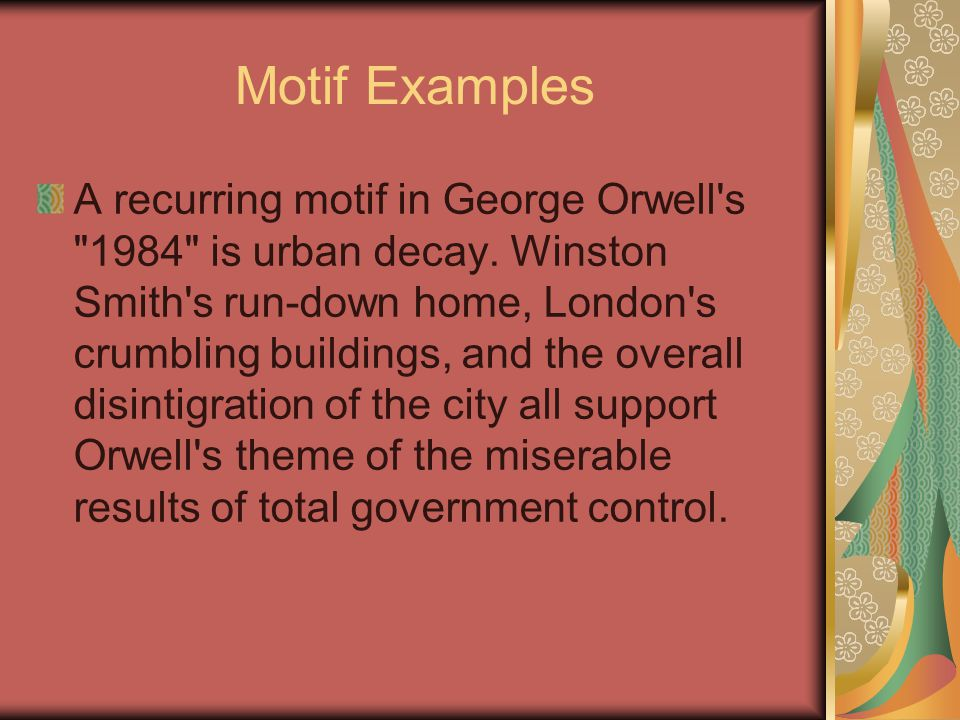 the motif of conformity in the novel 1984 by george orwell A summary of motifs in george orwell's 1984 learn exactly what happened in this chapter, scene, or section of 1984 and what it means perfect for acing essays, tests, and quizzes, as well.