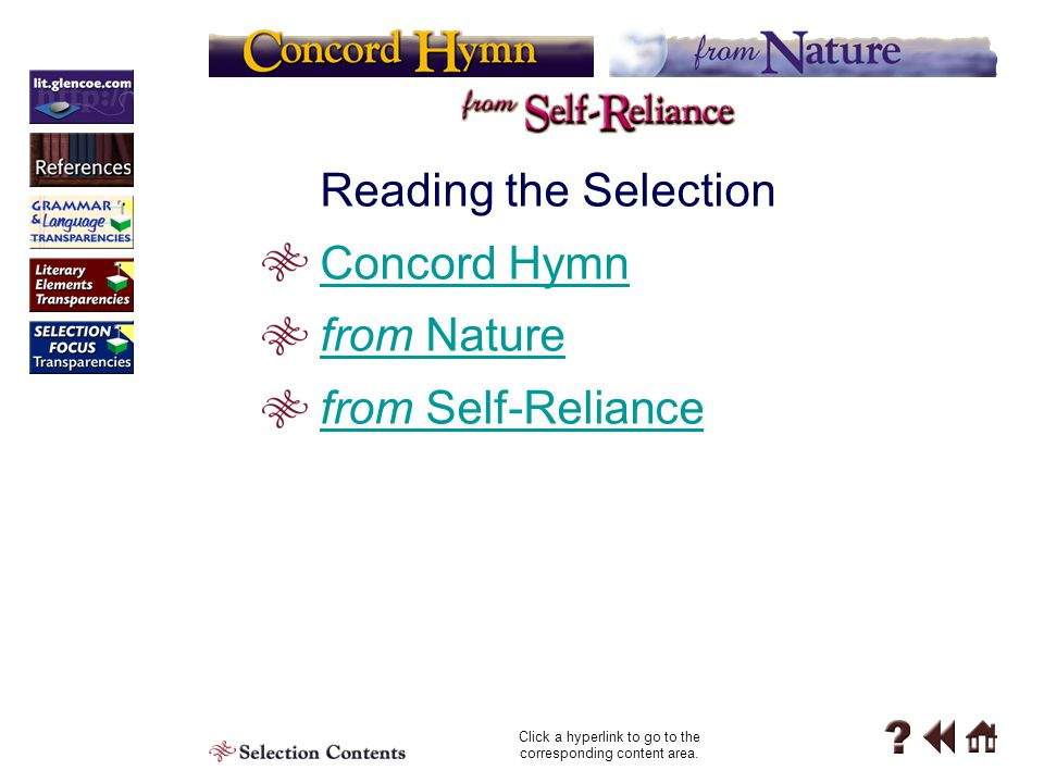 Reading the Selection 6 Contents