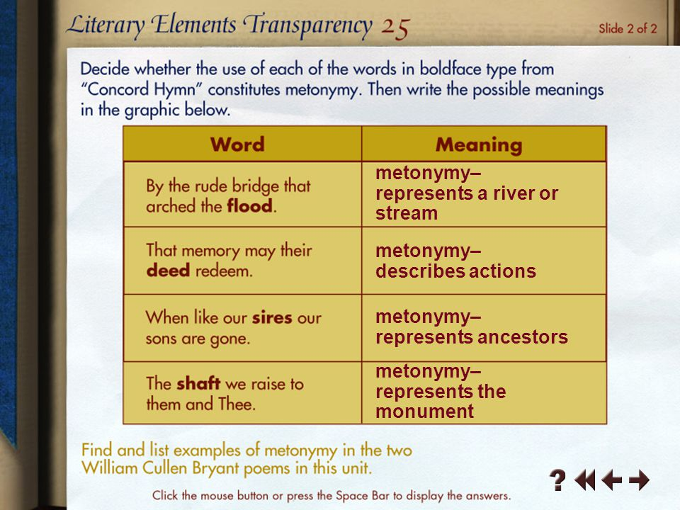 Literary Elements Transparency 6-2