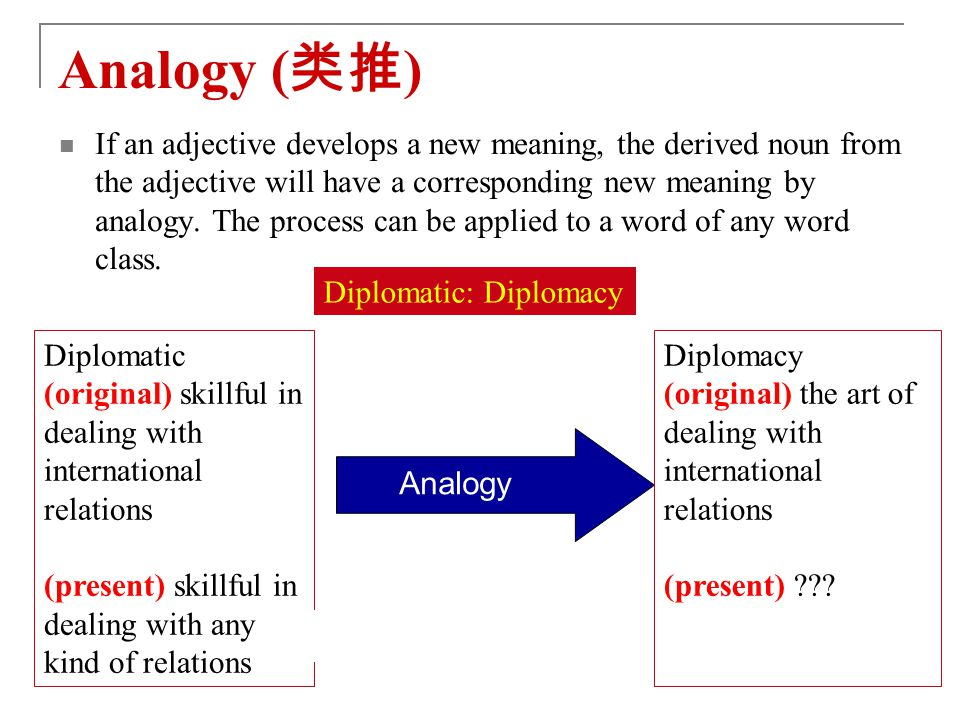 Analogy (类推)