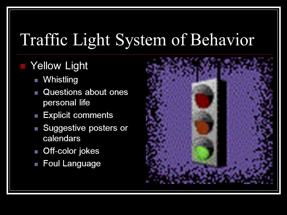 Traffic Light System of Behavior
