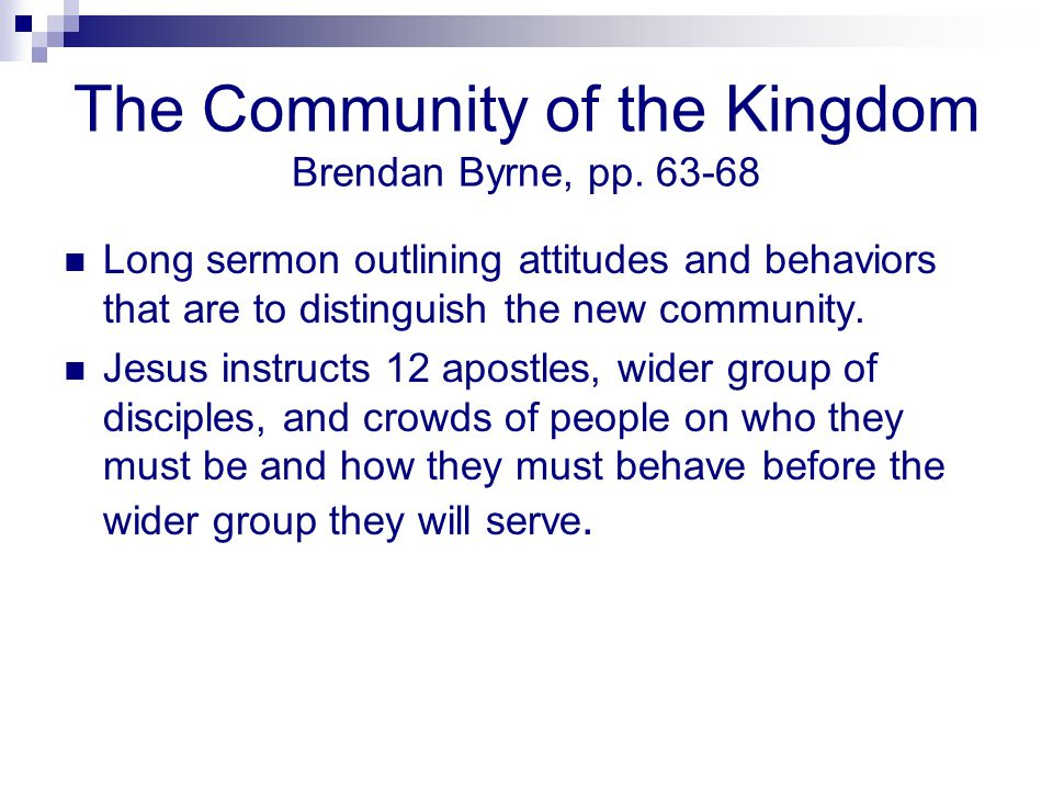 The Community of the Kingdom Brendan Byrne, pp. 63-68