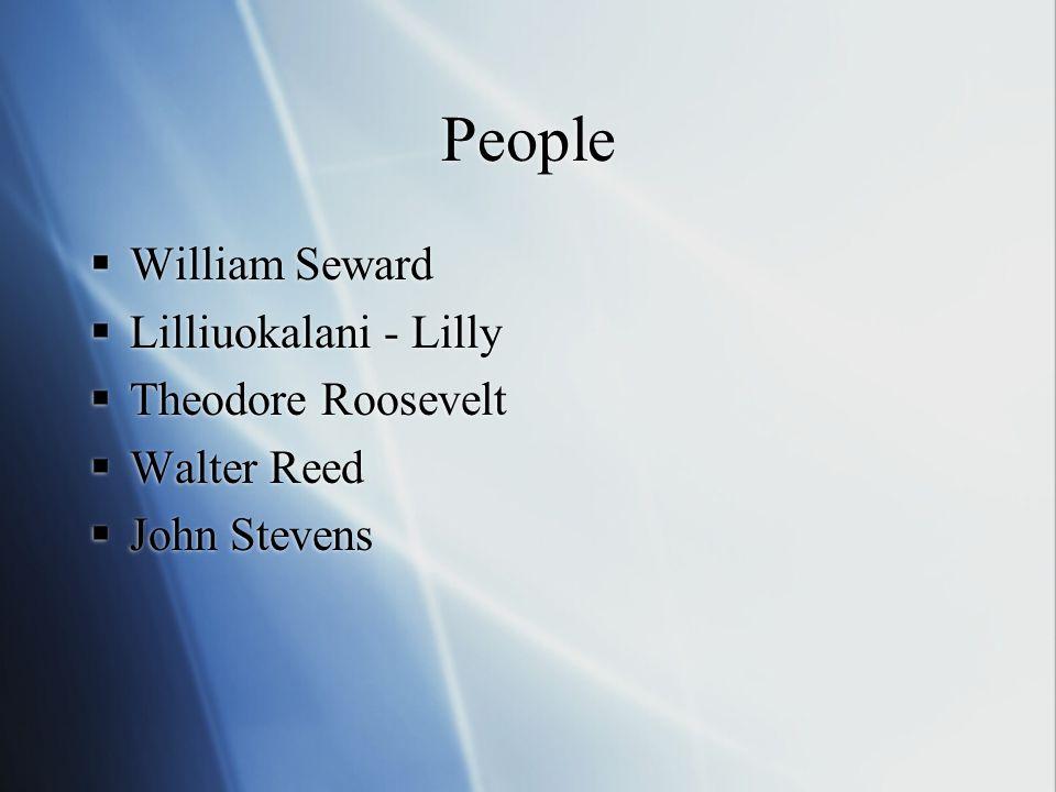 People William Seward Lilliuokalani - Lilly Theodore Roosevelt