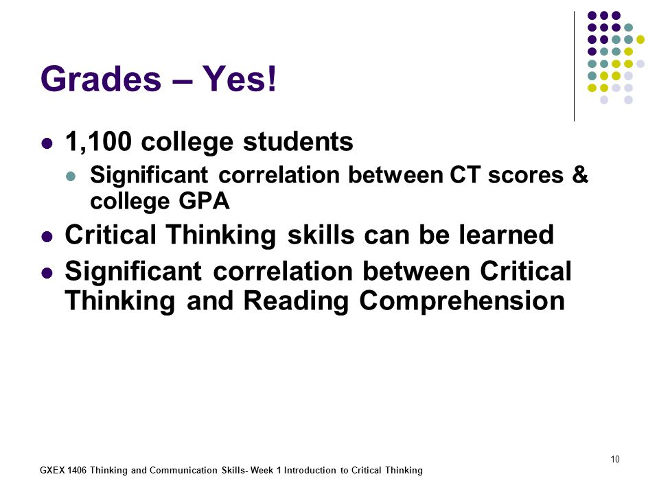 Comprehension Skills That Require Critical Thinking