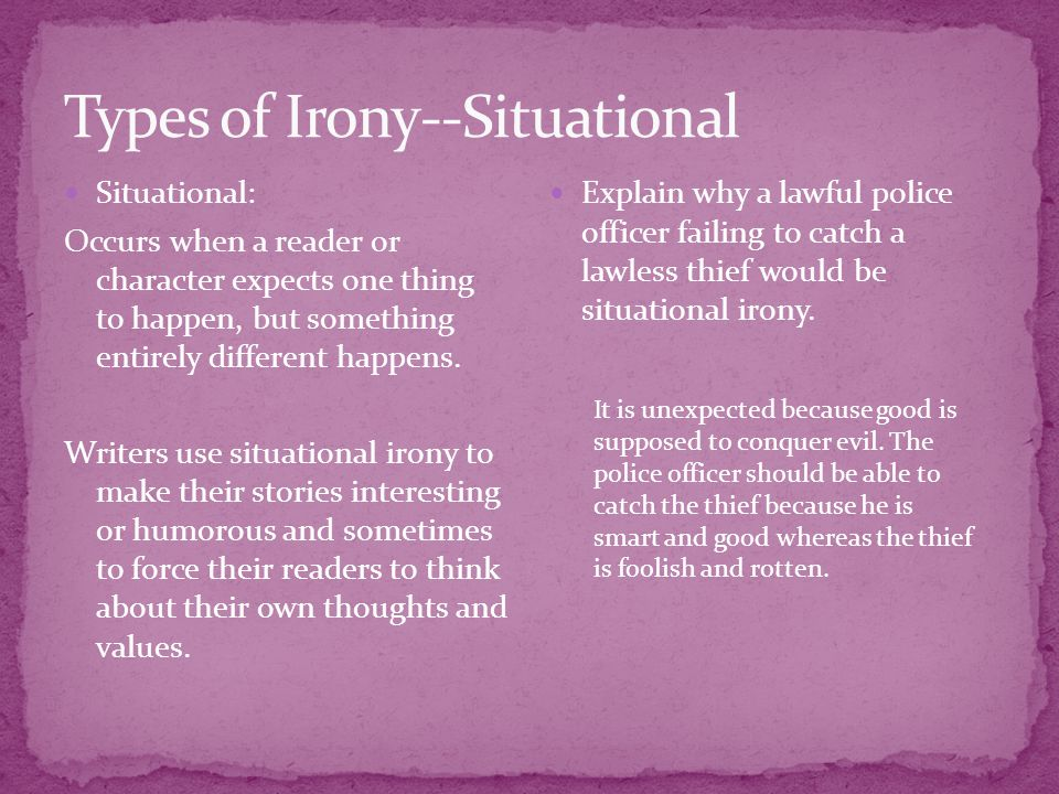 Types of Irony--Situational
